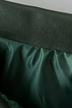 Dusty Green Pleated Skirt in Artificial Leather