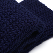 Navy Cosy Knitted Infinity scarf