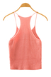 Pink Fashion Sleeveless Knit Top
