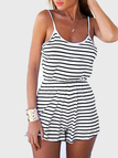 Cami Strap Stripe Beach Playsuit