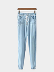 Denim Joggers with String