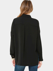 Black Chest Pockets Blouse