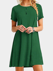 Green Round neck Mini Dress