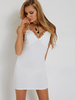 White Sexy Lace Backless Bodycon Cami Dress