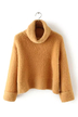 Turtle Neck Sweater in Tan