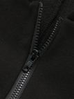 Black Zip Design Embroidered Pattern Hooded Jumpsuit