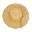 Khaki Wide Brim Beach Sun Visor for Women Floppy Straw Hat