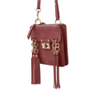 Fringe Shoulder Bag in Red