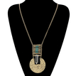 Vintage Pendant Disc Necklace