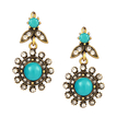 Sun Flower Stone Drop Earrings