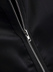 Black Casual Zipper Design Jacket