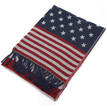 Red American Flag Print Wrap Scarf