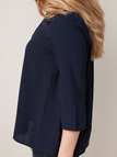 3/4 Length Sleeves Back Cut Out Shirt