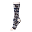 Deer Graphic Crew Socks in White