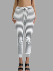 Stripe Pattern Joggers with Drawstring Waist