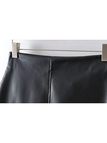 Leather-look Mini Skirt with Zipper Details