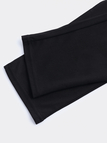 Casual Plain Design Drawstring Waisted Pants in Black