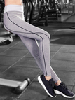 Active Stitching Design Quick Drying Yoga Leggings in Light Grey