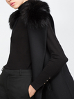 Longline Gilet with Artificial Fur Collar