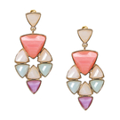 Multicolor Faceted Stone Swing Earrings