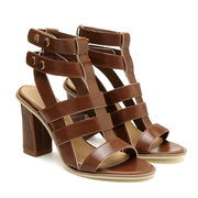 Gladiator Heeled Sandals In Brown