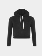 Plain Black Color Double Straps Vorne Kapuzenpullover