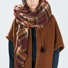 Praça verificado Xaile Scarf in Brown