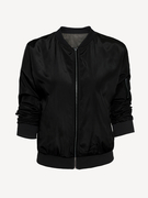Black Fashion Jacket with Zipper Details