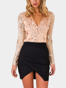 Long Sleeves Sequin Sexy Bodysuit