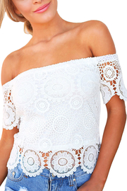 Strapless Lace Sunflower Top