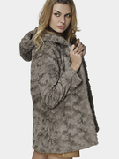 Artificial Fur Hooded Coat