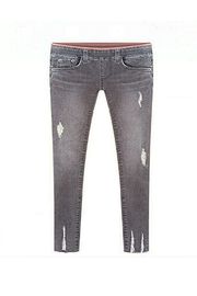 Jeans Skinny Jeans [*]] Taille Plus Gris Jeans Skinny Ripped