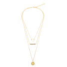 Triangle Bar and Pendant Layered Necklace