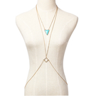 Triangle Turquoise Necklace Body Chain