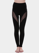 Yoga Mesh Details Bodycon Leggings