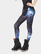 Blue Galaxy Imprimir Leggings