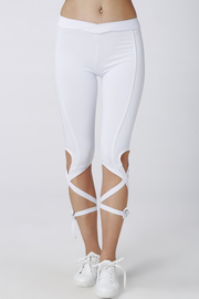 Leggings See-through blancos con auto-empate