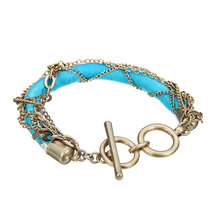 Multi Chain Bracelet with Cord