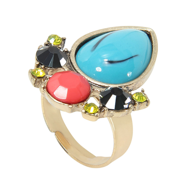 Blue Jewel Pear Shape Ring
