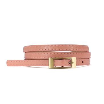 Thin Belt With Small Buckle In Pink