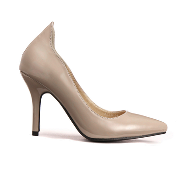 Pointed Heel Shoes In Grey