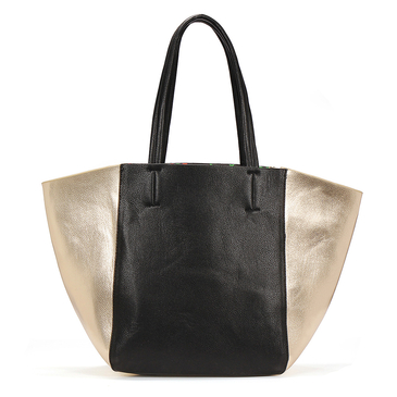 Bolso tote en colour block