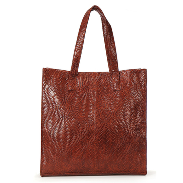Woven Pattern Design Tote Bag
