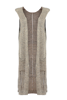 Sleeveless Longline Cardigan