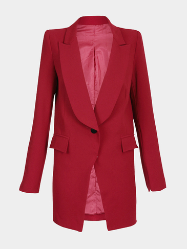 Longline Blazer in Red