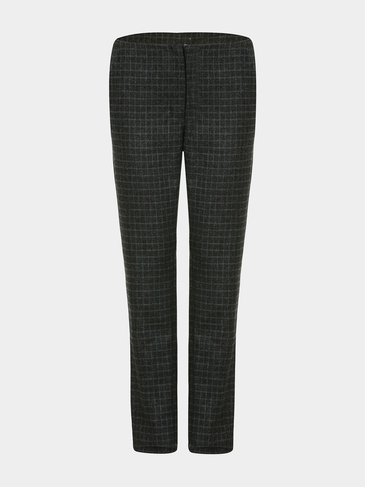 Peg Trousers in Grid Print