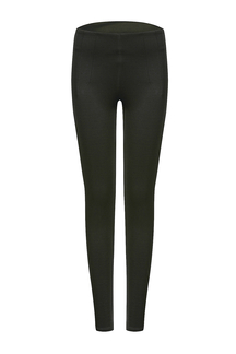 Leggings plissados ​​pretos