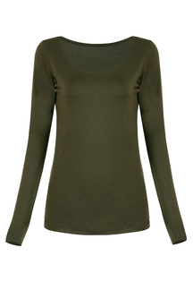 Army Green Soft-touch Top