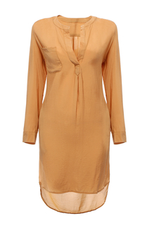 V Neck Shirt Dress
