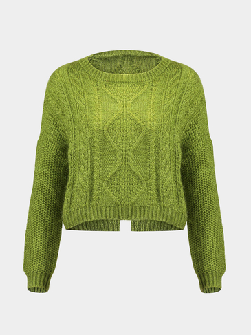 Fluffy Sweater in Green